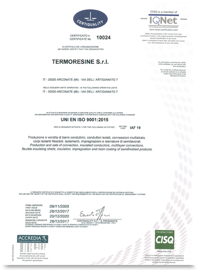 termoresine certificazione